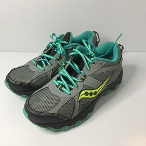 Saucony Escape TR Womens Size 7  Gray/Teal/Yellow